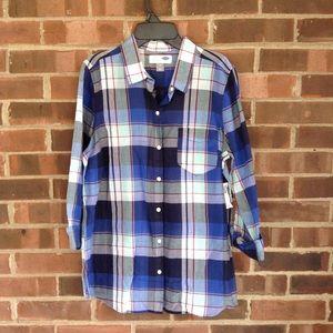 NWT Old Navy light weight plaid shirt, Sz M